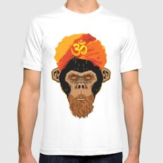 Stoned Monkey SMALL White Mens Fitted Tee