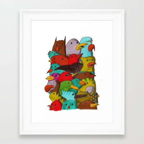 The Birds Of Monkland Village Framed Art Print