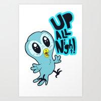 Up All Night!  Art Print