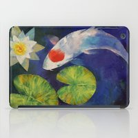 Tancho Koi and Water Lily iPad Case