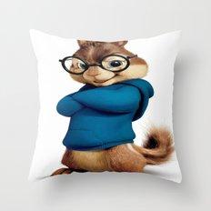 Simon the smartest chipmunk Throw Pillow