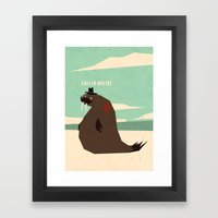 W is for walrus Framed Art Print
