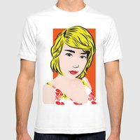 Popart  Mens Fitted Tee White SMALL