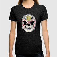 Day Of The Dredd - Black… Womens Fitted Tee Tri-Black SMALL