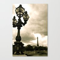 A Night In Paris Canvas Print