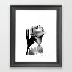 Paint Rain Framed Art Print