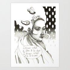 She said Art Print
