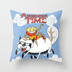 Airbender Time Throw Pillow