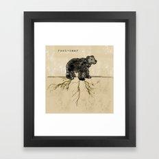 ROOT-BEAR Framed Art Print