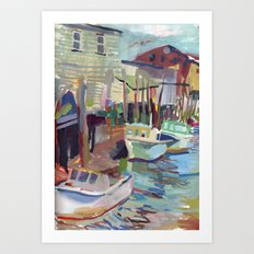 Portland Harbor Art Print