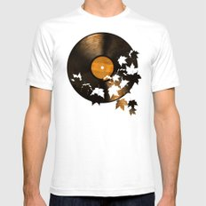 Autumn Song  SMALL White Mens Fitted Tee