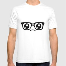 Sad little nerd. SMALL Mens Fitted Tee White