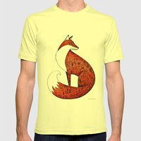 My neighbour the fox Mens Fitted Tee Lemon SMALL