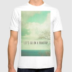 Let's Take a Roadtrip White Mens Fitted Tee SMALL