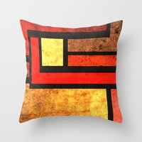 Red Yellow Orange Throw Pillow