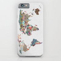 world map iPhone & iPod Cases featuring Louis Armstrong Told Us So by Bianca Green