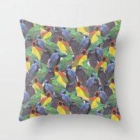 Birds Birds Birds Throw Pillow