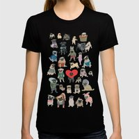 Pugs Womens Fitted Tee Black SMALL