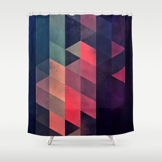 edyfy wyth lyys Shower Curtain