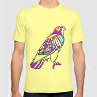 Love Hawk Mens Fitted Tee Lemon SMALL