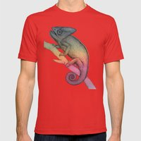 Chameleon (3) Mens Fitted Tee Red SMALL