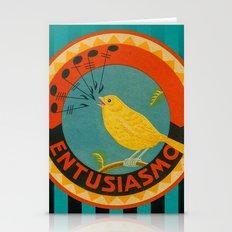 Spanish Orange Label Stationery Cards
