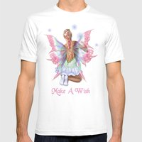 Make a Wish Fairy Mens Fitted Tee White SMALL