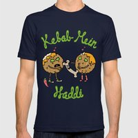 Kebab Mein Haddi Mens Fitted Tee Navy SMALL