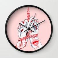Tied Down Wall Clock