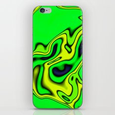 Green Yellow and blue abstract iPhone & iPod Skin
