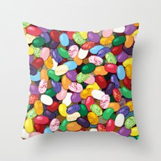Jellybeans Throw Pillow