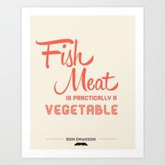 Fish Meat Art Print