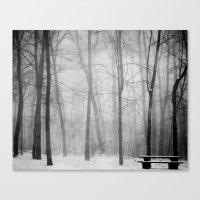 Empty Bench Canvas Print
