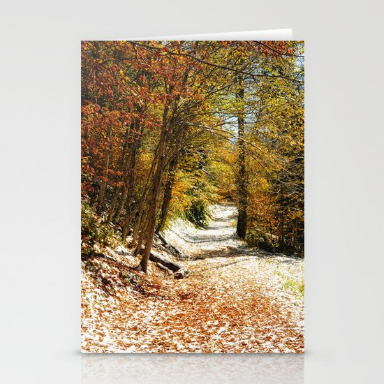 The First Snow Stationery Card