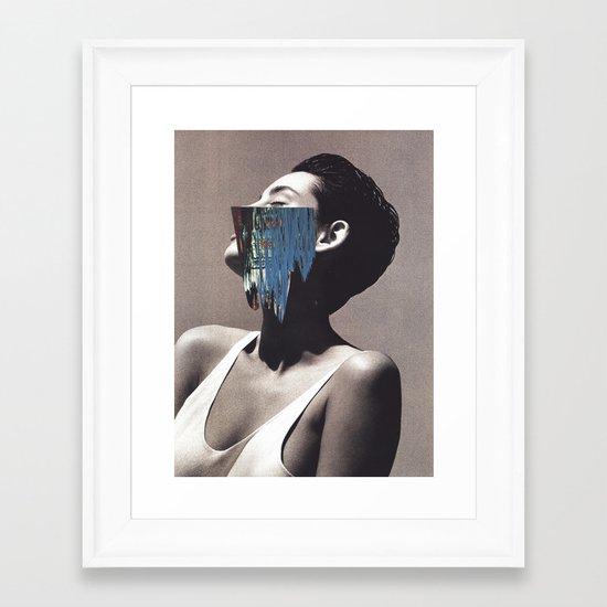 stop swimming Framed Art Print