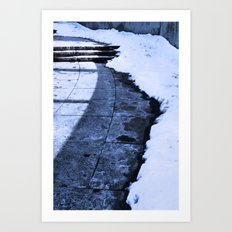 Grounding Snow Art Print