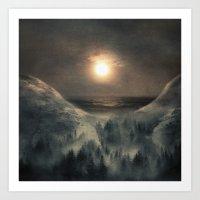 Hope in the moon Art Print