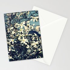 White magnolia tree Stationery Cards
