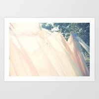 clothes hanging Art Print
