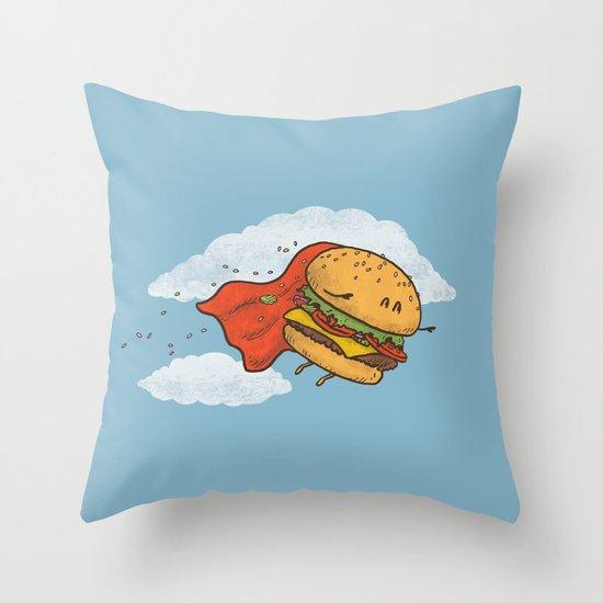 Superburger! Throw Pillow