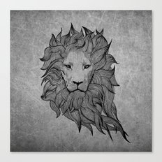 Grey Lion Canvas Print