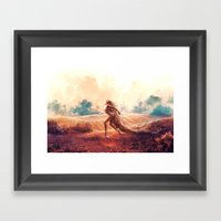ARIES from the Dancing Zodiac Framed Art Print