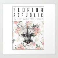 Florida Republic Floral Art Print