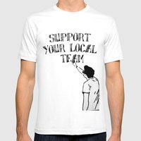 Support Your Local Team Mens Fitted Tee White SMALL