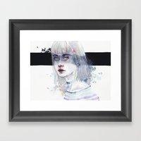 Blindfolded Goddess Framed Art Print