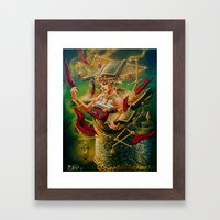 The Literary Device Framed Art Print