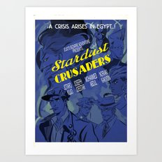 Jojo's Bizarre Adventure Steel Ball Run - 1930's Stardust Crusaders movie poster Art Print