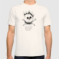 GETTING RID OF PUNK-ROCK MYTHS #1 Mens Fitted Tee Natural SMALL