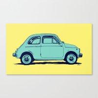 Fiat 500 Canvas Print