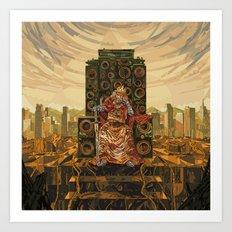 HR-FM - King Deluxe Art Print